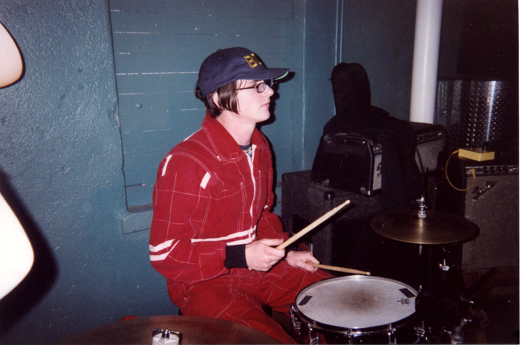 aaron at the drums